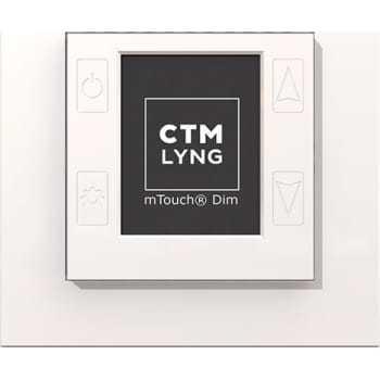Billede af CTM mTouch DIM, lysdæmper, polarhvid (RAL9010)