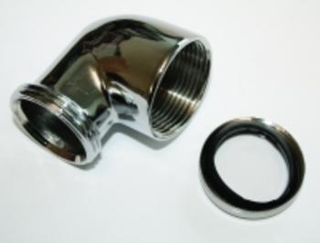 Image of   Afløbsvinkel krom1.1/4x32mm med omløber Spændring og Pakning