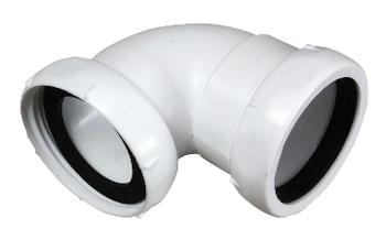 Image of Badekarsvinkel af hvid plast, 1.1/2 x 40 mm