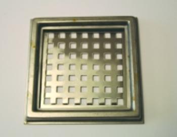 Image of Blücher rustfri ramme og rist til Mini-afløb 106x106 mm