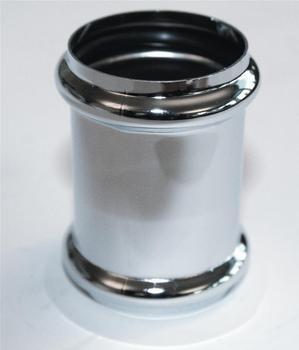 Image of Dobbeltmuffe Forkromet 32mm til samling af 32mm afløbsrør
