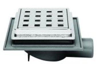 Image of Jo-Mini afløbsskål 32 mm med rist Grå til Beton/klinkegulv