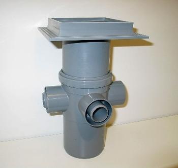 Image of Maxi-Flex afløbsskål med Flextop, 110 mm hvid til beton