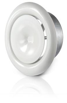 Image of   100 mm Indblæsningsventil med ramme ventilation KI