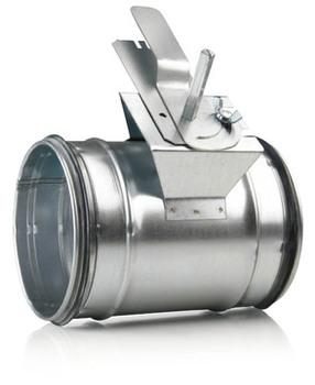 Image of   125 mm Indregulering/lukkespjæld til ventilation med tætning på spjældbladet