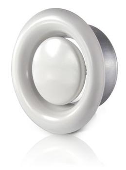 Image of   125 mm Udsugningsventil med ramme ventilation KL