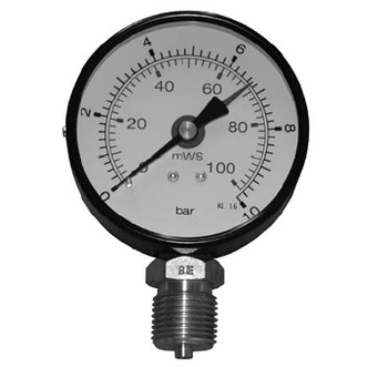 Image of   1/4` x 63 mm Manometer 16 bar
