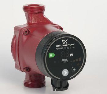 Image of   Grundfos Alpha2 20-40N 150 mm. A-mærket pumpe til brugsvand