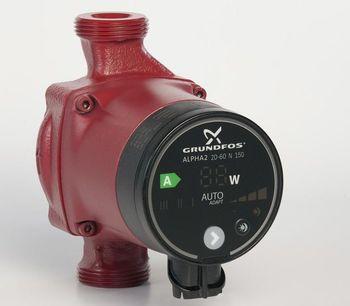 Image of   Grundfos Alpha2 20-60 N 150 mm. A-mærket pumpe til brugsvand