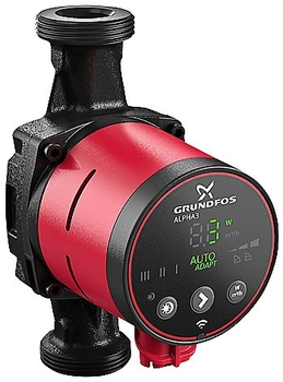 Grundfos Alpha3 25-40 130 mm 1X230V 50Hz til varme
