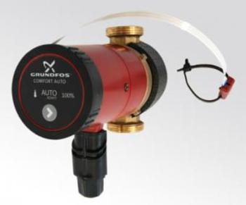 Image of   Grundfos UP15-14BA PM 80 Comfort til brugsvand. Bronze m. autoadapt