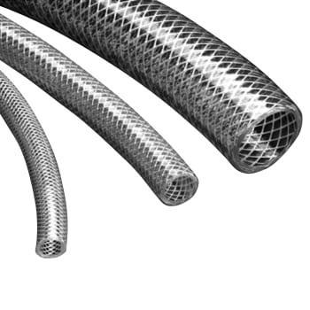 Image of   3/8` pvc slange armeret - pris for 50 meter