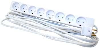 Image of   8-stikdåse m/j 5m hvid