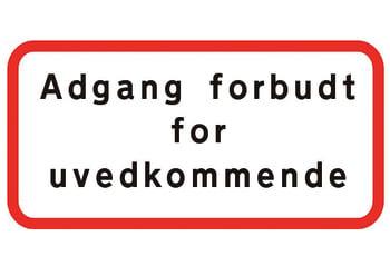 Image of   Adgang forbudt f/uvedkommende