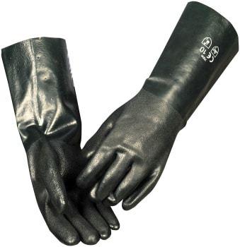 Pvc handske 40 cm grøn str. 10