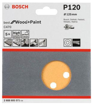 Bosch slibeark ø125mm k120, 5stk
