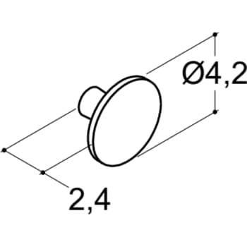 Image of   Dansani Greb button sort ø:42mm