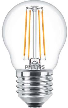Philips filament krone 4w/827 e27 klar