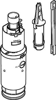 Geberit skyllegarniture 3/6ltr t/Gl. Frontbetj. cisterne