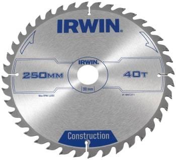 IRWIN rundsavklinge 40td ø250/30 3.0
