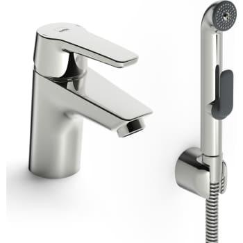 Billede af Oras Saga håndvaskarmatur med håndbruser, uden BV, CU rør