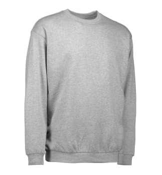 ID Identity sweatshirt grå melange str. l