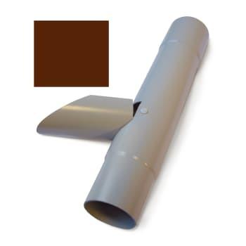 Image of   Plastmo 110 mm Vandudviser m/klap brun