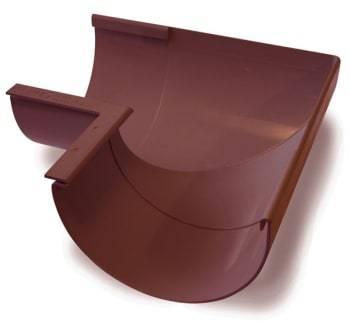 Image of   Plastmo 12`` x 90° Gering indvendig brun