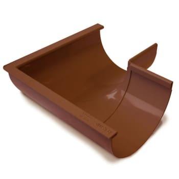 Image of   Plastmo 12`` x 90° Gering udvendig brun