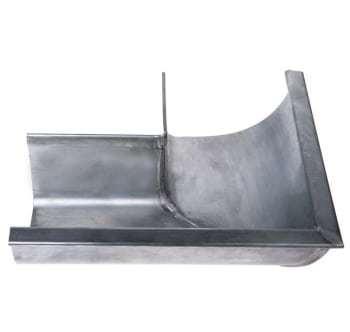"""Image of   Plastmo 1/4r zink gering 11"""" udv.90°"""