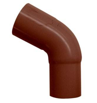Image of   Plastmo 90 mm x 75° Bøjning brun