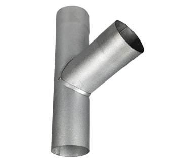 Image of   Plastmo aluzink grenrør 75 mm 70°