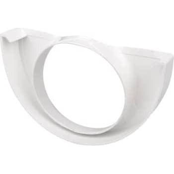Image of   Plastmo endebund med hul 10/75 hvid