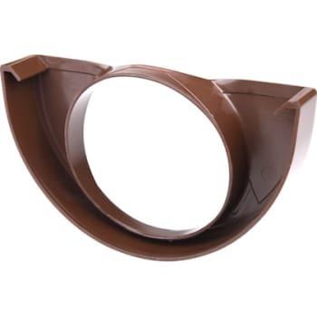 Image of   Plastmo endebund med hul 12/90 brun