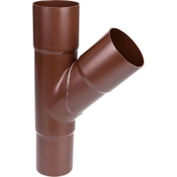 Image of   Plastmo grenrør 90/90 45° brun