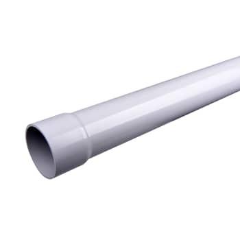Image of   Plastmo hærværksrør pvc 110mm grå 2m