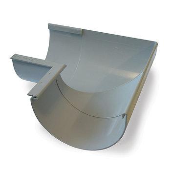Image of   10` x 90° Gering indvendig grå Plastmo