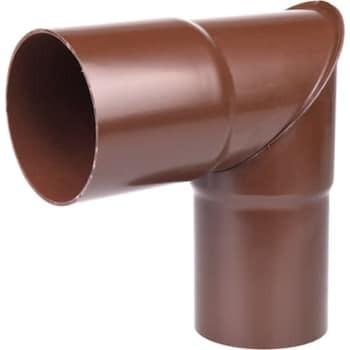 Image of   Plastmo knærør 75 mm 90° brun