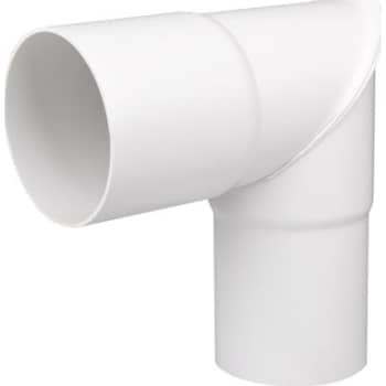 Image of   Plastmo knærør 75 mm 90° hvid