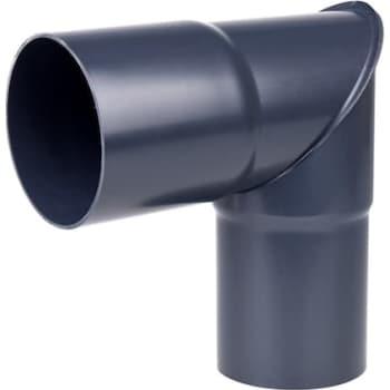 Image of   Plastmo knærør 90 mm 90° grafit