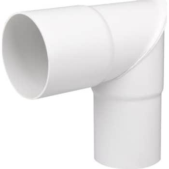 Image of   Plastmo knærør 90 mm 90° hvid