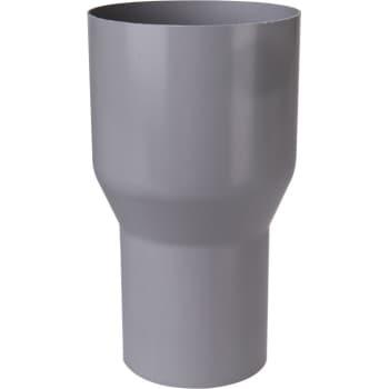 Image of   Plastmo overg. fra løvfang t/90mm grå