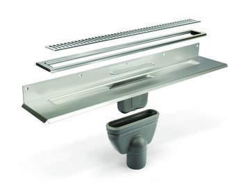 Unidrain sampak 900 mm Type 1004. 10mm ramme. Column rist og 75 mm lodret udløbshus