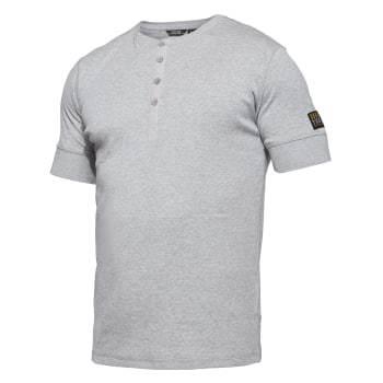 WorkZone grandad t-shirt, grå str. l
