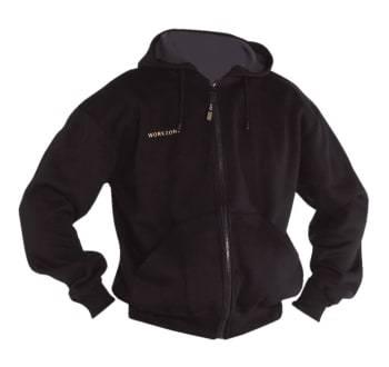 WorkZone jersey hættetrøje large sort
