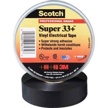 Image of   3M Tape 33+ 38mm x 33m sort (50 stk)