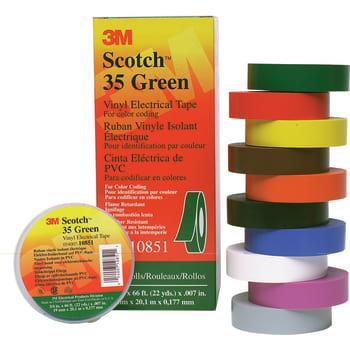 Image of   3M Tape 35 19mm x 20m brun (20 stk)
