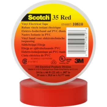 Image of   3M Tape 35 19mm x 20m rød