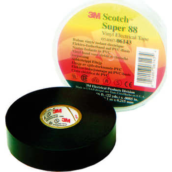 Image of   3M Tape 88 19mm x 20m sort (10 stk)