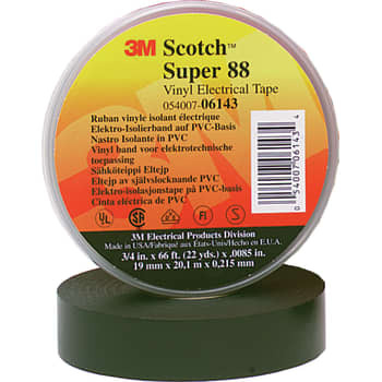 Image of   3M Tape 88 38mm x 13m sort (100 stk)